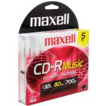 Maxell 80min 5pk Cdr Music/audio